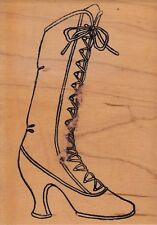 fancy boot art gone wildWood Mounted Rubber Stamp 3 1/2 x 5