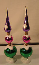 Two Department 56 Glass Xmas Trees 8 1/2""