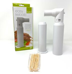 Easy Kebab Maker Cool Gadget for Grilling BBQ Barbecue Kabobs inc wooden skewers