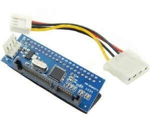 """40 Pin Female PATA IDE to 22 Pin Male Adapter SATA 3.5"""" Card for T1 Converter"""