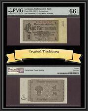 TT PK 173b 1937 GERMANY 1 RENTENMARK STABILIZATION BANK PMG 66 EPQ GEM UNC.