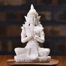 Meditative Seated Buddha Sandstone Statue Sculpture Decor Figurine N9K5