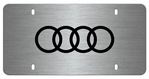 Genuine Audi Accessory- Laser-Etched Vanity Plate (Brushed Stainles Steel)