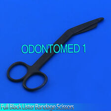"1 Lister Bandage Nurse Scissors 5.5"" Full Black"