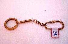 Brass Magnifying Key Chain- Collectible Marine Nautical Key Ring (29)