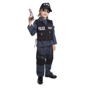 Deluxe Children's S.W.A.T. Police Officer Fancy Dress Costume Set