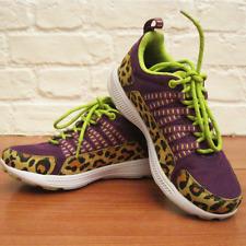 Womens SUPRA Owen Purple / Green Cheetah Print Trainers * UK 3 * Great Condition