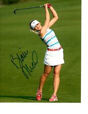 LPGA STAR BLAIR ONEAL SIGNED FOLLOW THROUGH 8X10