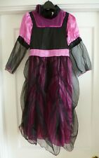 Girls Age 7-8 Gothic Countess Halloween Dress Up Costume Fancy Dress