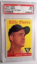 1958 Topps #50 Billy Pierce PSA 9 MINT White Team Letters, None Higher, SMR $265