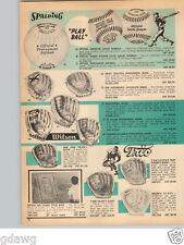 1966 PAPER AD Al Kaline Rocky Colavito Bob Aspromonte Baseball Glove H Killebrew