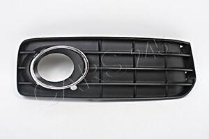 Genuine AUDI A5 S5 08-12 S-Line Bumper Fog Grille + Chrome Trim Cover RIGHT SET