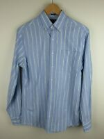 Tommy Hilfiger Mens Shirt Size M 15 Long Sleeve Button Up Slim Fit Blue Striped