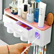 Toothbrush Holder Automatic Toothpaste Dispenser Bathroom Accessories Organizer