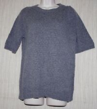 Judith & Charles 70% Wool 30% Cashmere Gray  Short Sleeve Women Sweater Size:M/M