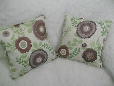 "ASTER GARDEN BY JOHN LEWIS 1 PAIR OF 18"" CUSHION COVERSDOUBLE SIDED/ZIP OFFCOVER"