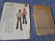 Vintage 1970s Silver Needles sewing pattern No: 47 Boy's trousers uncut