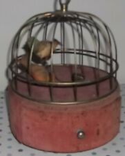 More details for vintage automaton birds in a cage musical box made in japan