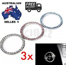 3x PACK Car Auto Decor Accessories Key Ignition Decal Sticker Rhinestone Rings