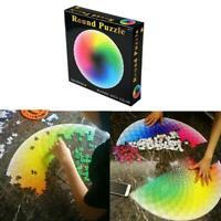 1000 pcs/set DIY Color Jigsaw Puzzle Rainbow Round Geometrical Photo For Adult