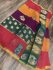 Festival price reduced by $10! New Pure Organza Saree/ Benaras Patch Work