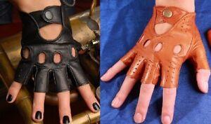 BRAND NEW! Classic Driving Leather Fingerless Gloves! BRAND NEW!
