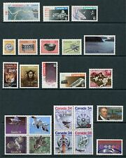 Canada 1986 Complete Commemorative Year Set NH - Scott 1077-1121, 40 Stamps