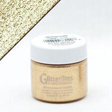 C-220 Angelus Glitterlites Flexible Leather Paint For Sneakers 1 Oz Desert Gold