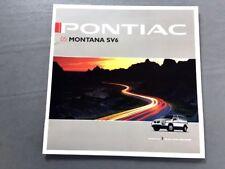 2005 Pontiac Montana SV6 Van 28-page Canada Car Sales Brochure Catalog