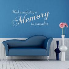 Recuerdos Adhesivo Pared con Texto Cuarto de Estar Decoración Dormitorio Gráfico