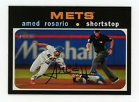 2020 Topps Heritage #355 AMED ROSARIO New York Mets 1971 STYLE BASEBALL CARD