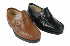 100% Leather Extra Wide (EEE) Round Formal Shoes for Men