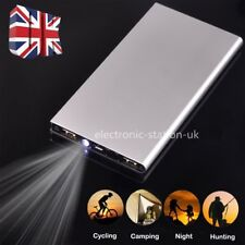 UK 100000mAh Power Bank Pack Portable Dual USB Battery Charger For Mobile Phones