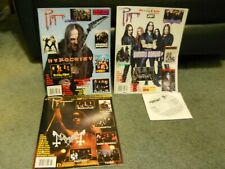 Pit Magazine lot issues 27,28,32 NM Hypocrisy Mayhem Dimmu Borgir Emperor
