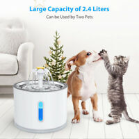 Electric Pet Drinking Water Fountain Cat/Dog Automatic Bowl Filter & USB Cables