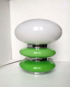 VINTAGE MAZZEGA MURANO GLASS LAMP 1960's*SPACE AGE*Mushroom*CARLO NASON ?*Green