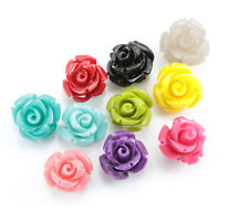 20x Size 8mm Resin Plastic Rose Flower Beads for Sewing Jewellery Making Craft
