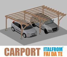 Carport in Legno Impregnato 5 x 6 Tettoia Auto Pergola Gazebo Garage Tassella
