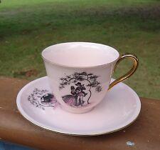 Vintage Westminster Australia Pink Fine China Cup & Saucer Fragonard Lovers #342