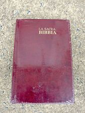 Italian Language Bible, La Sacra Bibbia, New Diodati, Burgundy Hardcover,Italian