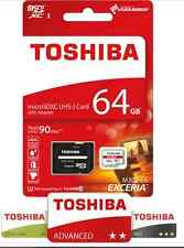 Toshiba Exceria M302-EA 64GB Micro-SDXC Card 90MB/s schnell + SD-Adapter Class10