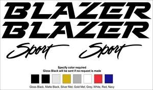 CHEVROLET / GMC BLAZER DECALS 91-94
