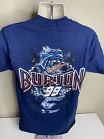 Vintage Jeff Burton Nascar T Shirt Men's Size Medium Blue