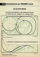 Vollmer Prospekt Gleispläne 1950er Jahre Modelleisenbahn brochure model railway