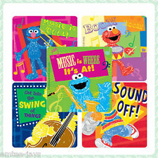 Sesame Street Music Stickers x 5 - Birthday Party Favours -Elmo, Drums, Big Bird