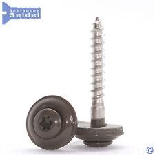 Spenglerschrauben Prefabraun | 15mm Dichtscheibe | Edelstahl A2 | Torx | Braun