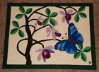 Missionary Education Home Made in Brazil Handmade Wall Hanging or Rug Butterfly
