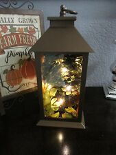 Fall Thanksgiving Pumpkin Metal Lantern LED Lights Table Decor Decoration