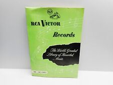 Vintage - RCA VICTOR RECORDS - Complete Catalogue of RCA VICTOR Records for 1954