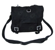 Military Style Black Canvas Bread Bag - Satchel Shoulder Pack Sack School New